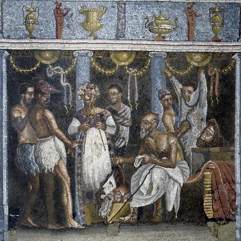 Roman Art : Theatrical Troup Peparing for a Satirical Drama Valokuvavedos