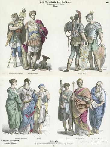 Roman Costumes Lámina giclée