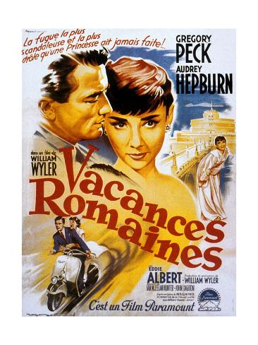 Roman Holiday, Audrey Hepburn, Gregory Peck, 1953 Art Print
