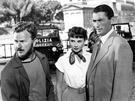 Roman Holiday, Eddie Albert, Audrey Hepburn, Gregory Peck, 1953 Photo