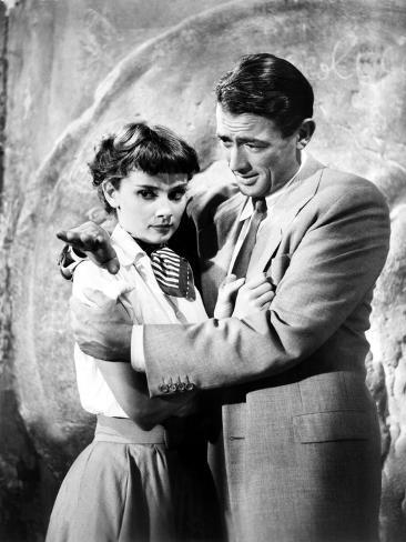 Roman Holiday, Gregory Peck, Audrey Hepburn, 1953 Photo