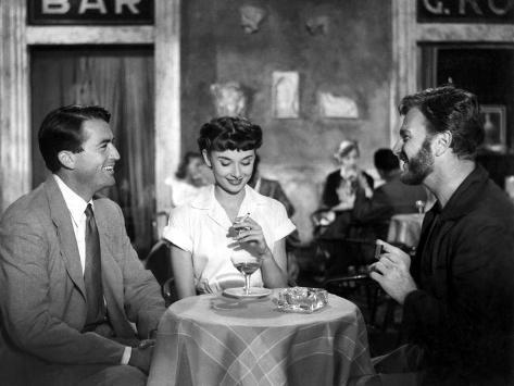 Roman Holiday, Gregory Peck, Audrey Hepburn, Eddie Albert, 1953 Photo