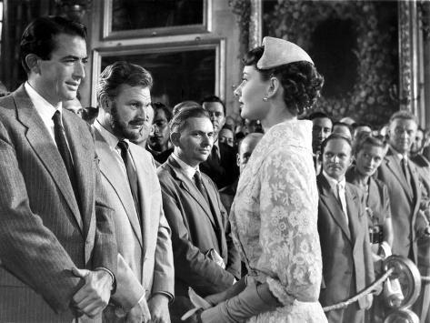 Roman Holiday, Gregory Peck, Eddie Albert, Audrey Hepburn, 1953 Foto