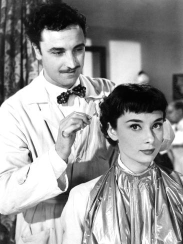 try on a haircut paolo carlini hepburn 1953 photo 1953