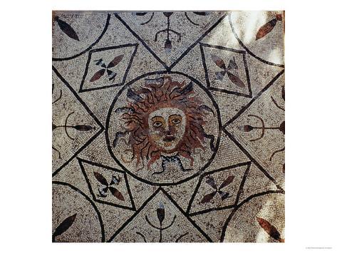 Medusa, Roman Mosaic from the House of Orpheus, 3rd Century Ad Giclee Print