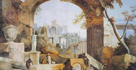 Roman Ruins II Art Print