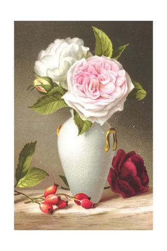 Romantic Rose Bouquet Still Life Art Print