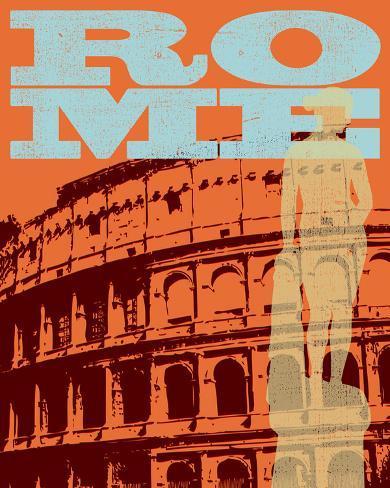 Rome, Colliseum Stretched Canvas Print