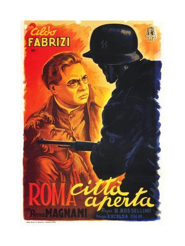 Rome, Open City, (AKA Open City, AKA Roma Citta Aperta), Italian Poster Art, 1946 Impressão giclée