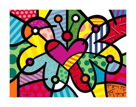 heart butterfly p u00f3sters por romero britto en allposters es clip art of eyelashes clip art of yes