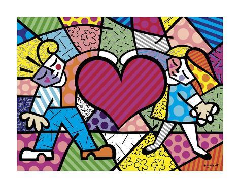 Heart Kids Art Print