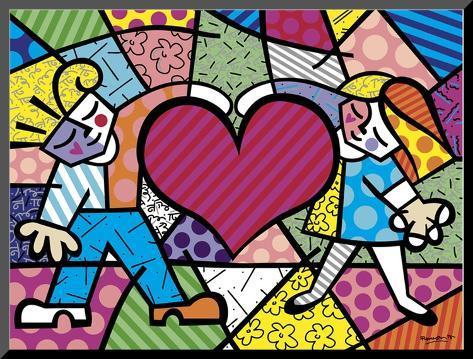 Heart Kids Mounted Print