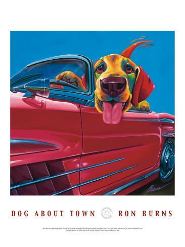 Dog About Town Art Print