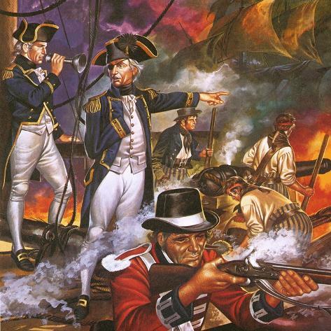 Nelson in the Battle of Trafalgar Giclee Print