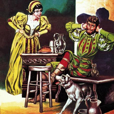 Petruchio and Katherine, from Shakespeare's Comedy, the Taming of the Shrew Giclee Print