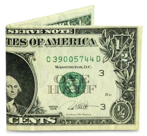 Ron English Half Dollar Tyvek Mighty Wallet Wallet