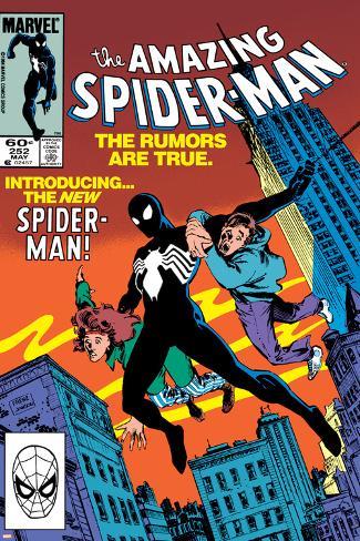 05dc38d880062 Amazing Spider-Man No.252 Cover: Spider-Man Swinging