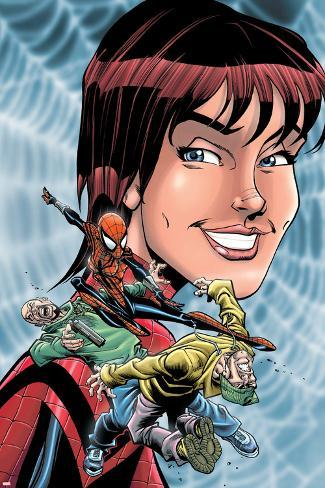 Spider-Girl No.72 Cover: Spider-Girl, Parker and May Poster