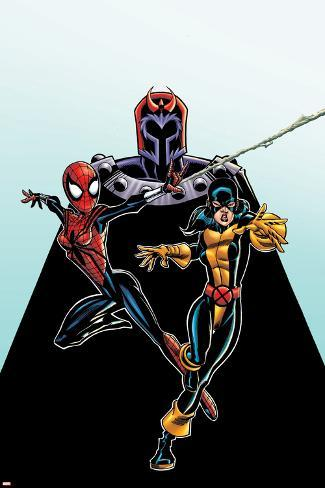 Spider-Girl No.92 Cover: Spider-Girl, Shadowcat and Magneto Poster
