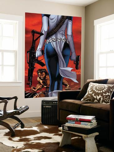 Wolverine No.64 Cover: Wolverine and Mystique Giant Art Print