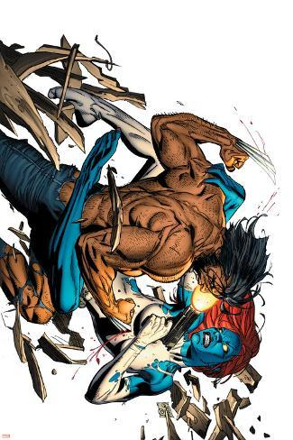 Wolverine No.65 Cover: Wolverine and Mystique Poster