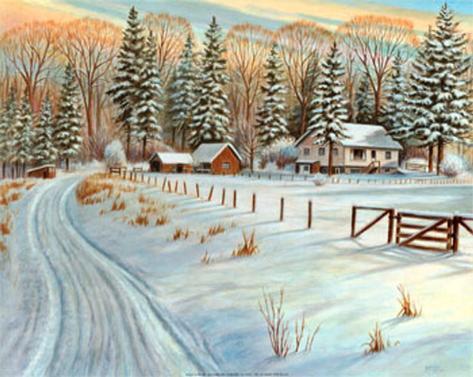 Winter Scene IV Art Print