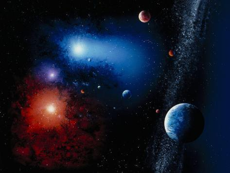Space Illustration Titled Novae Stella Photographic Print