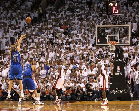 Dallas Mavericks v Miami Heat - Game Two, Miami, FL - JUNE 02: Dirk Nowitzki Photo
