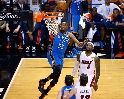 Miami, FL - June 17: Kevin Durant and LeBron James Photo