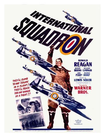 Ronald Reagan Squadron Movie Poster Stampa giclée