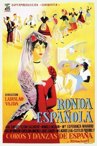 Ronda Española, 1952 Gicléetryck