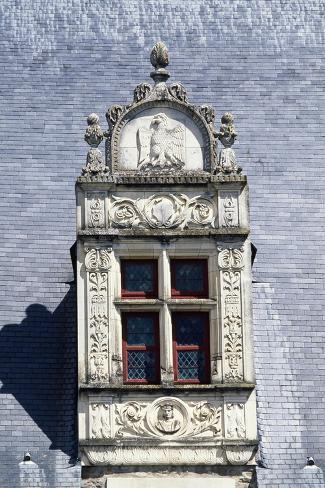 Roof Window in White Stone with Decorations in Relief, Detail from Laval Castle Giclee Print