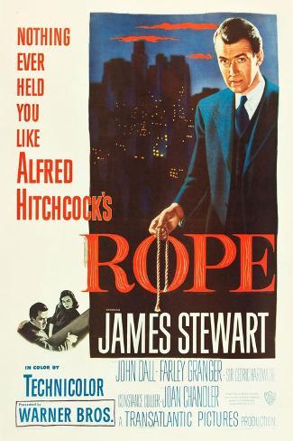 ROPE, poster art, James Stewart, 1948 Art Print