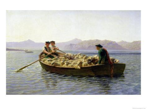Rowing-Boat, 1863 Giclee Print