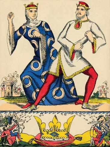 Stephen and Matilda, rivals for the crown of England, (1932) Giclee Print