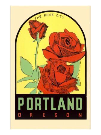 Rose City, Portland, Oregon Print at AllPosters.com