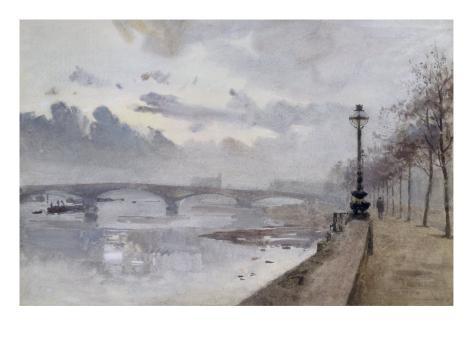 Beside the Thames, 1897 Giclee Print