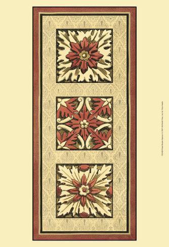 Rosette Tapestry I Art Print