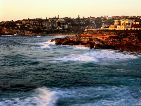 Entrance to Tamarama Bay to Bronte and Nelson Bay, Sunrise Photographic Print