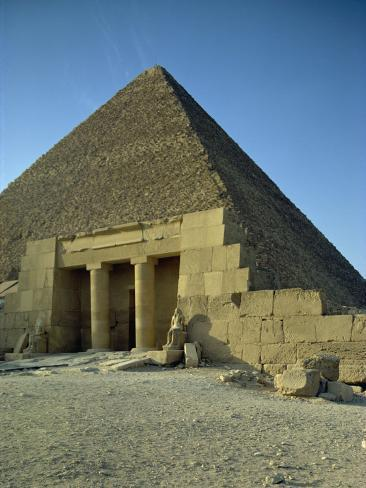 Pyramid of Cheops, Giza, UNESCO World Heritage Site, Cairo, Egypt, North Africa, Africa Photographic Print