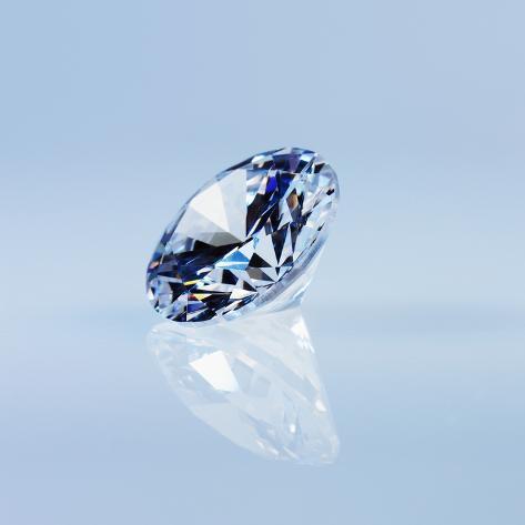 Round Cut Diamond Photographic Print