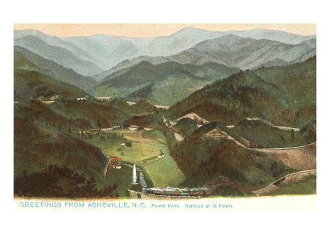 Round Knob, Asheville, North Carolina Art Print