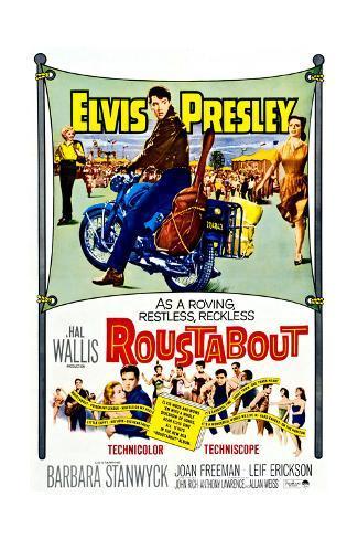 Roustabout, Barbara Stanwyck, Elvis Presley, Joan Freeman, 1964 Impressão artística