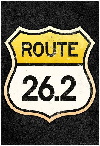 Route 26.2 Marathon Sports Poster Poster