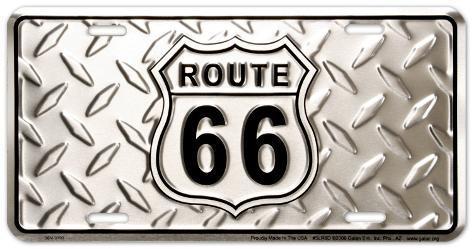 Route 66 Diamond Plate Carteles metálicos