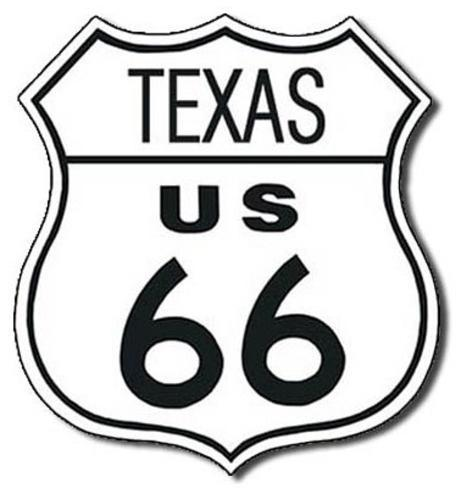 Route 66 - Texas Highway Road Tin Sign