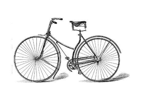 Rover Safety Bicycle, C1885 Giclee Print