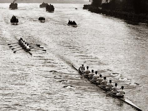 Rowing, Oxford V Cambridge Boat Race, 1928 Exklusivt fotoprint