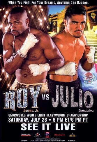 Roy Jones, Jr vs. Julio Gonzalez Masterprint