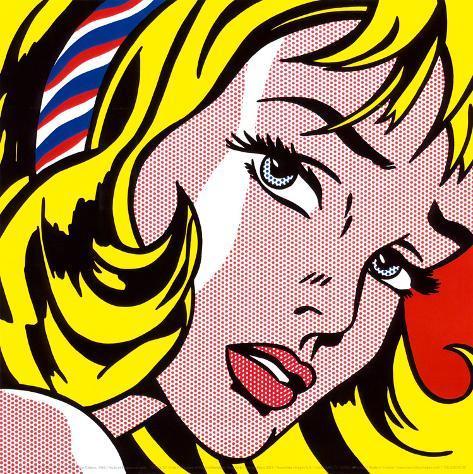 Ragazza con fiocco nei capelli, 1965 Stampa artistica